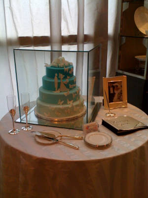 Our Butterfly Wedding Cake Displayed at Aventura Macy 39s in the Gift Bridal